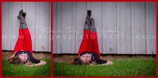 Picture This Photography | senior girl on grass | red pants | outdoors | www.paigespicturethis.com
